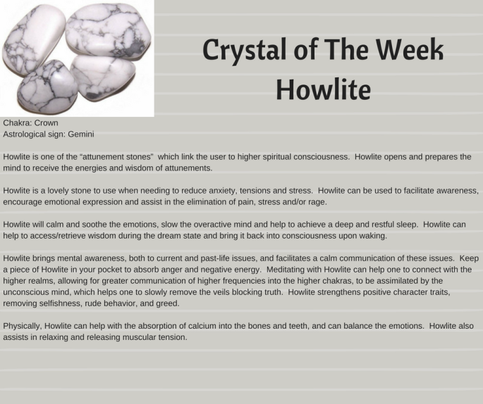 Crystal of The WeekHowlite