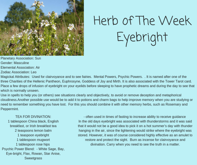 Herb of The WeekEyebright